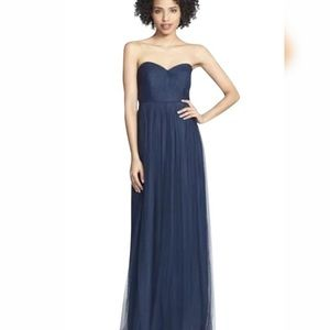 Jenny Yoo Annabelle Tulle Convertible Dress Navy